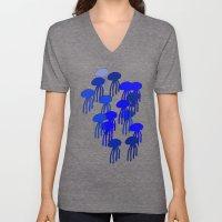 Jellyfish Blue Unisex V-Neck