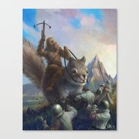 fur on fur Canvas Print