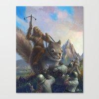 Fur On Fur Canvas Print