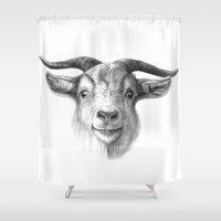Curious Goat G124 Shower Curtain