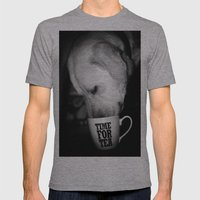 TeaLeaf Mens Fitted Tee Athletic Grey SMALL