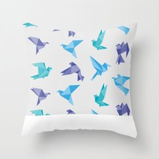 ORIGAMI BIRDS Throw Pillow