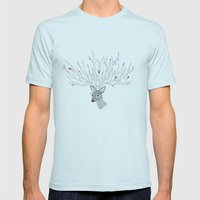 Doris Deer And Friends Mens Fitted Tee Light Blue SMALL