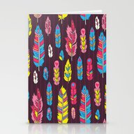 Stationery Cards featuring Tribal Feathers by MZwonko