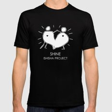 SHINE by ISHISHA PROJECT Mens Fitted Tee Black SMALL