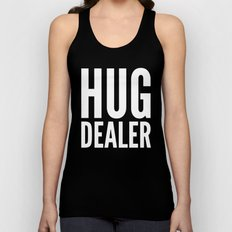 HUG DEALER (Black & White) Unisex Tank Top