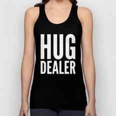 HUG DEALER (Black & White) Unisex Tank Top