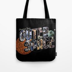 Greetings From Outer Space (color 01) Tote Bag