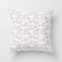 Fair Magnolias Throw Pillow