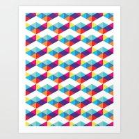 Modern Rainbow Party Art Print