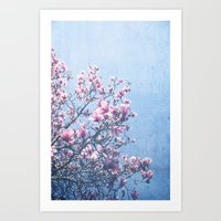Art Prints featuring She Bloomed Everywhere She Went by Olivia Joy StClaire