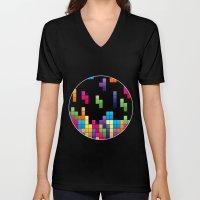 Tetris Troubles. Unisex V-Neck