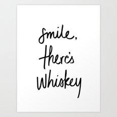 Smile - Whiskey Art Print