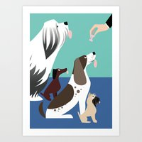 The Treat For Handsome D… Art Print