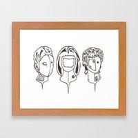 3heads Framed Art Print