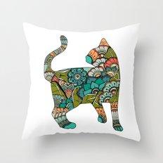 Vegetarian cat Throw Pillow