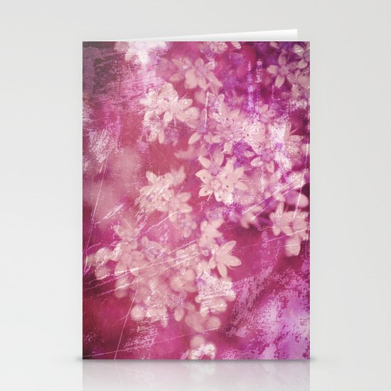 floral grunge pink Stationery Card