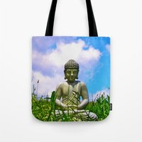Buddha Takes the Field Tote Bag