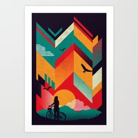 Bike Ride Art Print