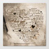 Ich Liebe Dich -  I Love… Canvas Print