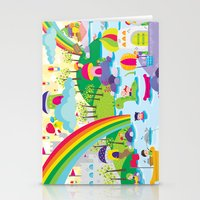 Rainbow Land Stationery Cards