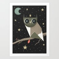 What The Wise Owl Sees Art Print
