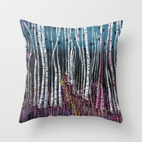 :: Pink Moss :: Throw Pillow