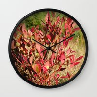 Plants on the powerlines Wall Clock