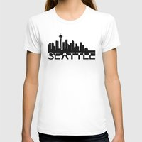 seattle T-shirts featuring Seattle by Allison Kiloh