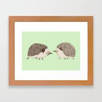 Two Hedgehogs Framed Art Print