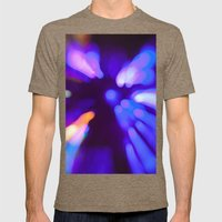 Bokeh Light Experiment Mens Fitted Tee Tri-Coffee SMALL