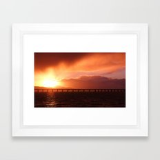 Stormy Sunset Framed Art Print