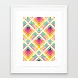 Framed Art Print - Retro Rainbow - Fimbis