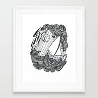 Leviathan and Lonely Framed Art Print