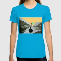 The Walk Womens Fitted Tee Teal SMALL