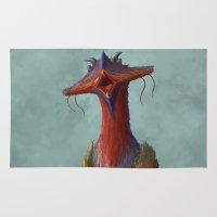 Beak portrait Rug