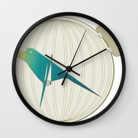 The Emperor's Nightingale Wall Clock