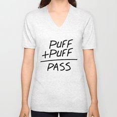 Puff + Puff = Pass Unisex V-Neck