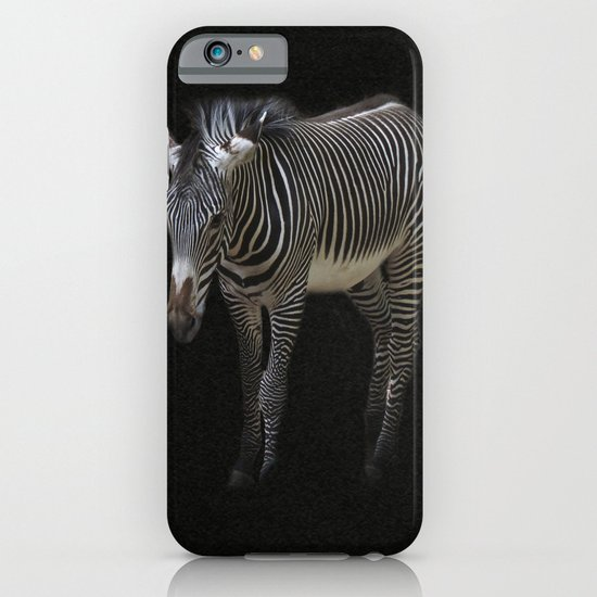 Black and White on Black iPhone & iPod Case