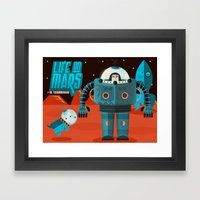 Life on mars Framed Art Print