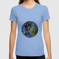 Pixelation  Womens Fitted Tee Athletic Blue SMALL