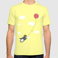 Take Flight! SMALL Lemon Mens Fitted Tee