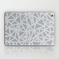 Shattered Ab Grey And Wh… Laptop & iPad Skin