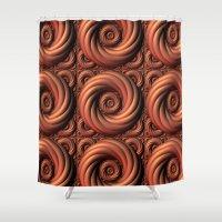 Copper Coils Shower Curtain