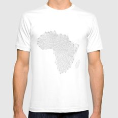 Vector Africa White Mens Fitted Tee SMALL