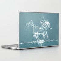 horse Laptop & iPad Skins featuring The Water Horse by Paula Belle Flores