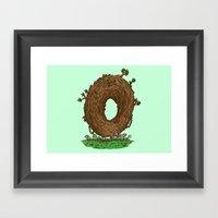 The Natural Donut Framed Art Print