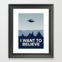 My X-files: I Want To Be… Framed Art Print