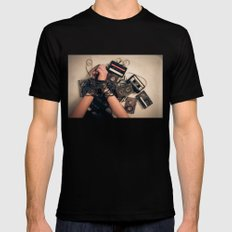 music is the new sex Mens Fitted Tee Black SMALL