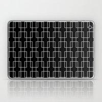 White outline rectangles on black Laptop & iPad Skin